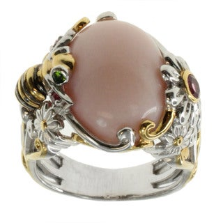 Michael Valitutti Pink Opal And Multi Gemstone 'Bumblebee' Ring