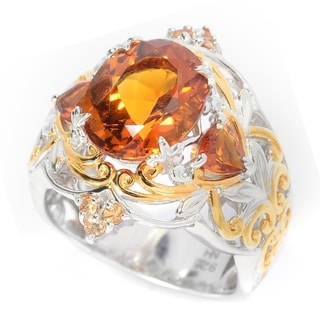 Michael Valitutti Citrine and Sapphire Ring
