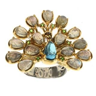 Michael Valitutti Labradoite and Topaz 'Peacock' Ring