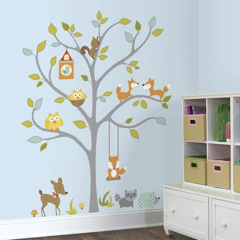 Woodland Fox & Friends Tree Peel and Stick Wall Decals