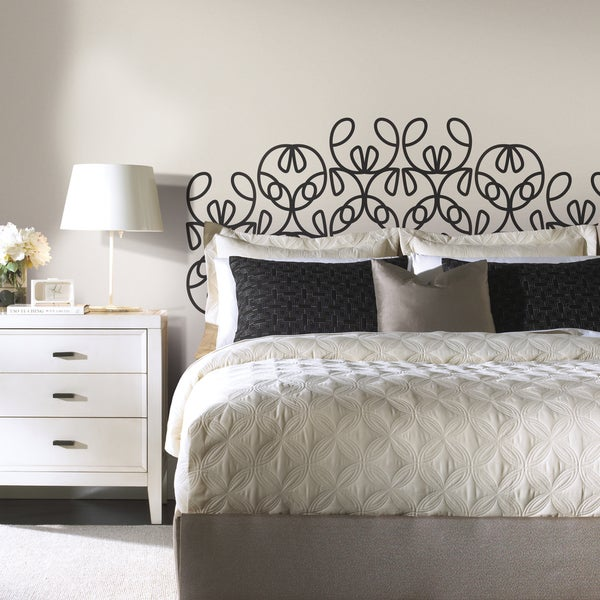 Shop Ribbon Headboard Peel And Stick Giant Wall Decals