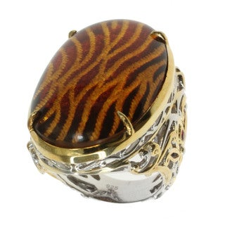 Michael Valitutti Amber 'Tiger Print' Ring