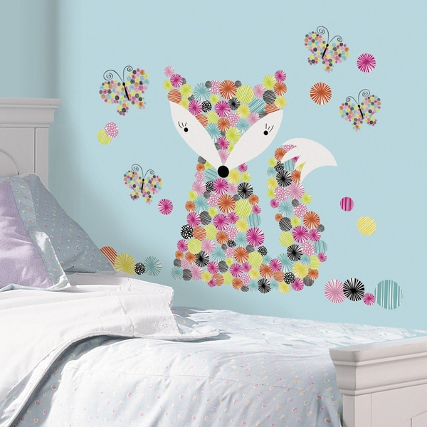 Prismatic fox peel and stick giant wall decals free for 8 sheet giant wall mural