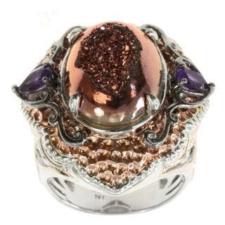 Michael Valitutti Druzy And African Amethyst Ring