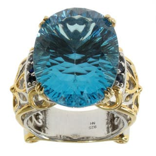 Michael Valitutti Sky Blue Topaz and Sapphire Ring https://ak1.ostkcdn.com/images/products/9722919/P16897150.jpg?impolicy=medium