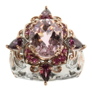 Michael Valitutti Kunzite, Pink Sapphire And Rhodolite Ring