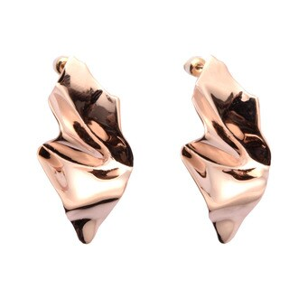 De Buman 18k Rose Gold Plated Dangle Earrings