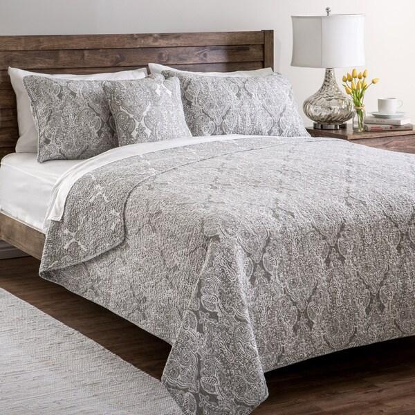 Paisley Cotton 4-piece Quilt Set