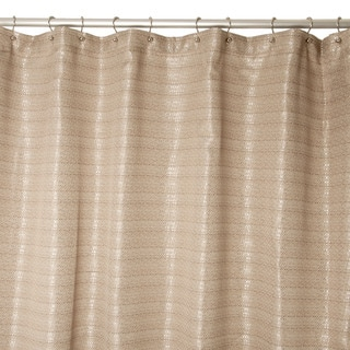 Fiore Taupe Shower Curtain