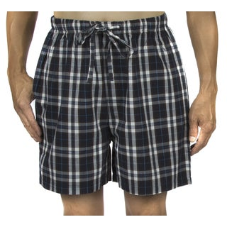 Leisureland Men's Cotton Poplin Pajama Boxer Shorts