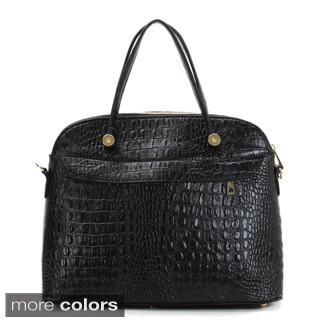 Buffalo Fandango Sourire Crocodile Embossed Tote