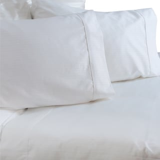 Austin Horn Classics 600 Thread Count Dobby Supima White Cotton Sheet Set
