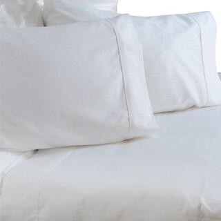 Austin Horn Classics 600 Thread Count Dobby Supima White Cotton Sheet Set