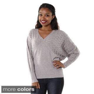 Hadari Women's V-neck Dolman Sweater
