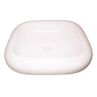 Ceramic White Rounded Square Vessel Sink