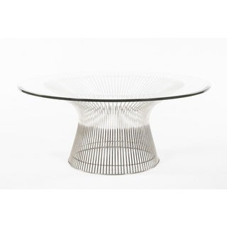 Hans Andersen Home Fishburne Oval Glass Coffee Table