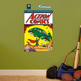 Fathead Jr. Superman Action #1 Comic Cover Wall Decals