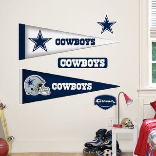 Fathead Jr. Dallas Cowboys Pennant Vinyl Wall Decals