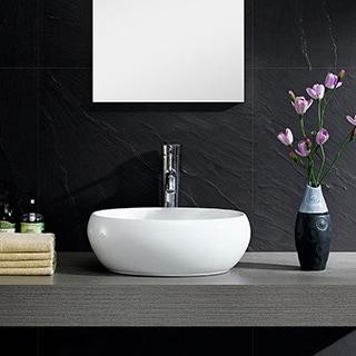 fine fixtures white china round modern vessel sink