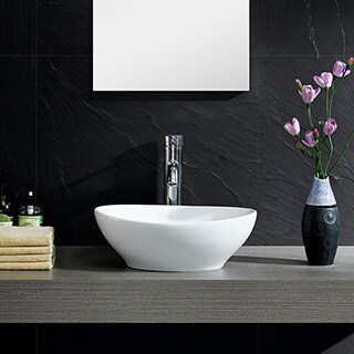 Fine Fixtures Modern Vitreous China Round Vessel Sink