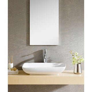 Fine Fixtures White Vitreous China Rectangle Vessel Sink