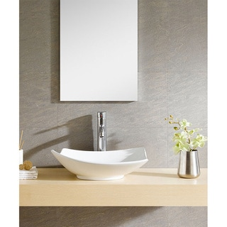 Fine Fixtures Irregular White Vitreous China Vessel Sink