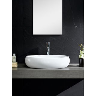 Link to Fine Fixtures Vitreous China Bulging Oval White Vessel Sink Similar Items in Sinks