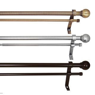 Versailles 1-inch Double Telescopic Curtain Rod (More options available)