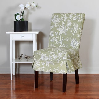 QuickCover Verona 1-piece Relaxed Fit Floral Mid-pleat Dining Chair Slipcover