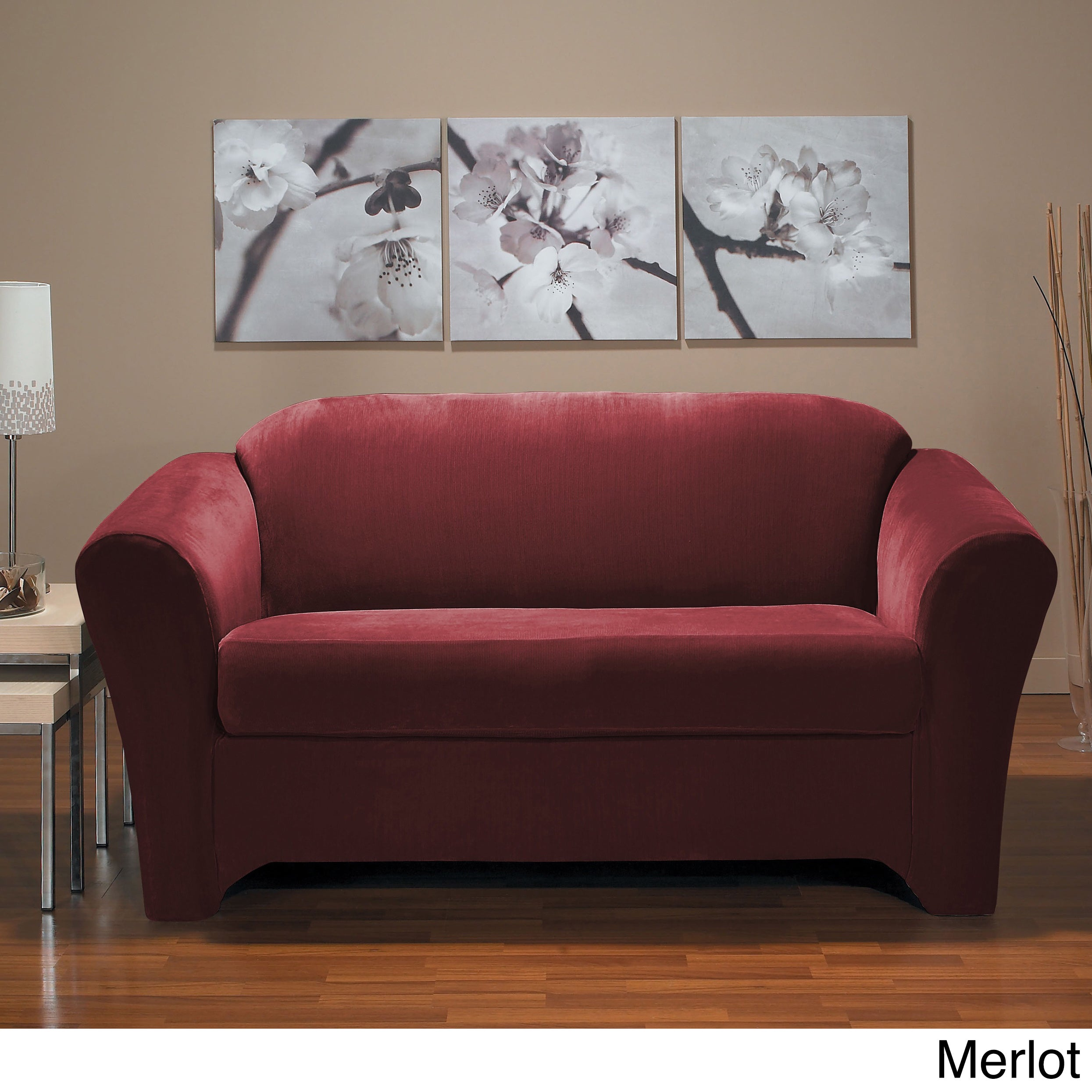 QuickCover Eastwood 2-piece Stretch Loveseat Slipcover (M...