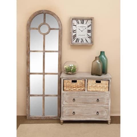 Farmhouse 32 x 32 Inch Wooden 2-basket Dresser by Studio 350