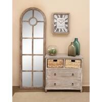 Wooden Light Brown 32-inch 2-basket Dresser