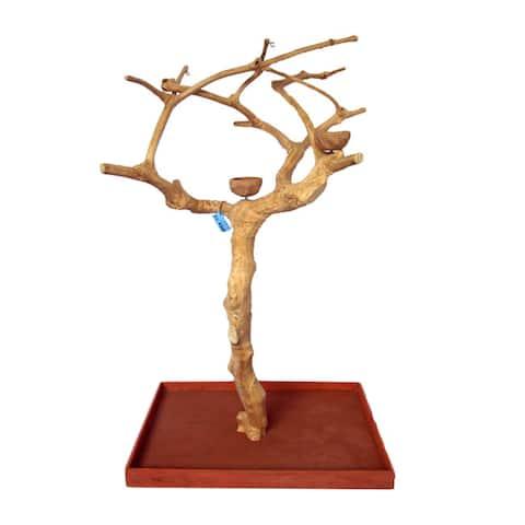 A & E Cage Co. Small-based Natural Java Wood Tree Box
