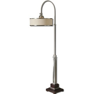Uttermost Amerigo 1-light Brushed Aluminum Floor Lamp