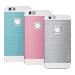 INO Metal Slip-free Grip Protective Case for iPhone 6 (Blue/ Pink/ Silver)