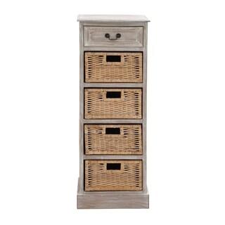 Wooden 4-bin Chest