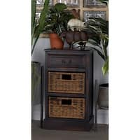 Farmhouse 28 x 16 Inch Wooden Side Table with Drawers by Studio 350