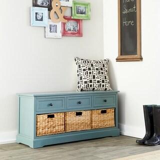 42 x 20 Wood Cabinet w/ Wicker Basket Drawers by Studio 350