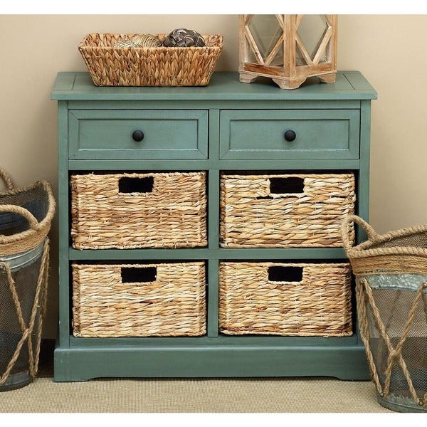 Buy Wicker Storage Basket Kitchen Drawer Style From The: Shop Wicker 4-basket Cabinet