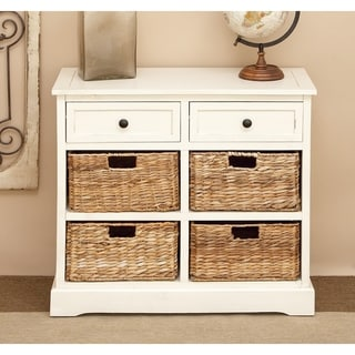 Wooden 4-Basket Cabinet