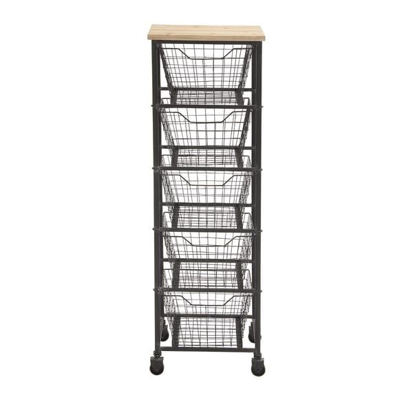 Shop Metal 50 Inch 5 Drawer Wheeled Storage Cart Free