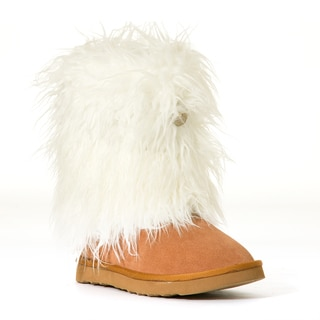Hugrz Cream and Tan Sherpa Boot Wraps