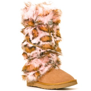 Hugrz Pink Panther Boot Wraps with Tan Lacing