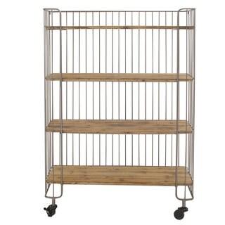 Wire Frame Storage Shelf with Casters