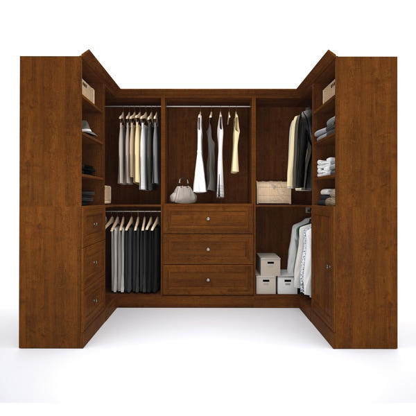 Versatile By Bestar 108 Inch Corner Closet Storage Kit