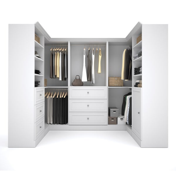 Versatile by Bestar 108-inch Corner Closet Storage Kit