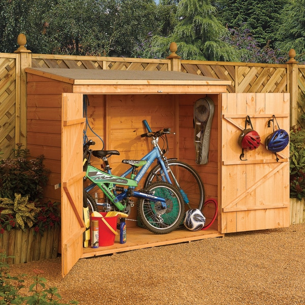 Wall store outdoor wood storage shed free shipping today for Outdoor wood storage sheds