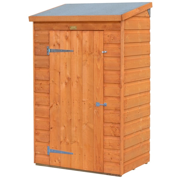 Small Outdoor Wood Storage Shed   Free Shipping Today   Overstock.com    16897928