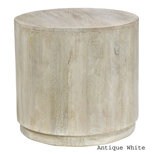 Cannie Hand Crafted Wood Round Side Table By Kosas Home   Free Shipping  Today   Overstock.com   16897950
