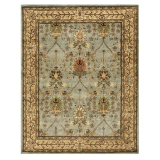 Hand-tufted Wool Blue Traditional Oriental Morris Rug (5' x 8') - 5' x 8'
